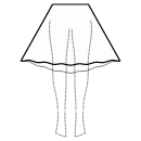 High-low (BELOW KNEE) semi circular skirt