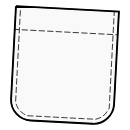 Patch pockets with rounded edges