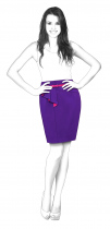 S3070 Skirt With Asymmetric Yoke And Pleated Fly Piece