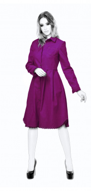 S4038 Shirt Dress With Pleats