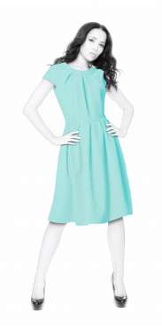 S4035 Dress With Pleats