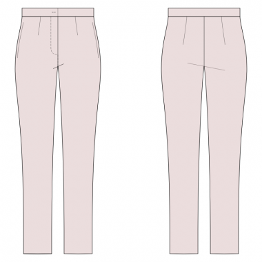 S2001 Tapered Pants Full Length