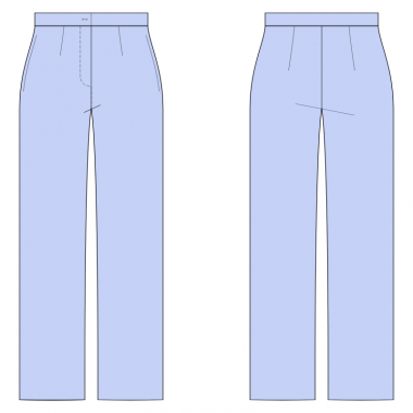S2002 Straight Pants, Full Length