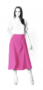 S3122 Skirt With Wrap